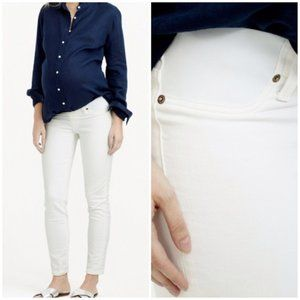 J. Crew Maternity Toothpick Jeans in Chalk White